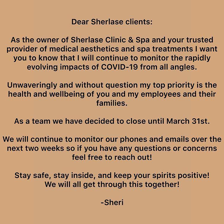 sherlase-clinic-covid-19-message